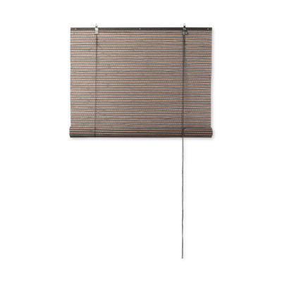 rolgordijn bamboe donkerbruin 60x130 cm