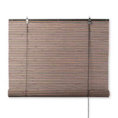 rolgordijn bamboe donkerbruin 60x180 cm