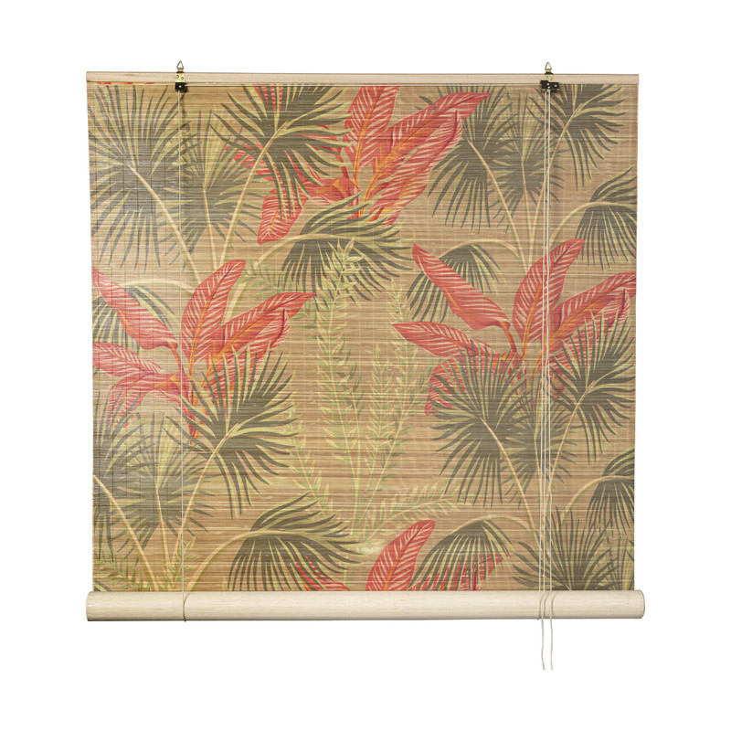 Rolgordijn bloem print - 150x180 cm