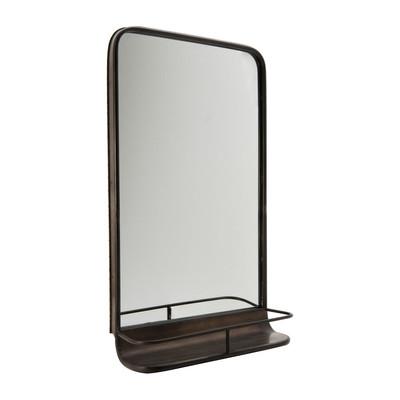 Halspiegel industrieel met plankje 47x75 cm for Xenos spiegel