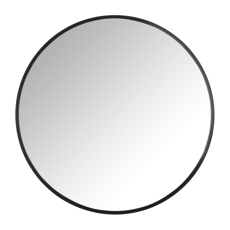 Spiegel rond met metalen lijst - diameter 70 cm
