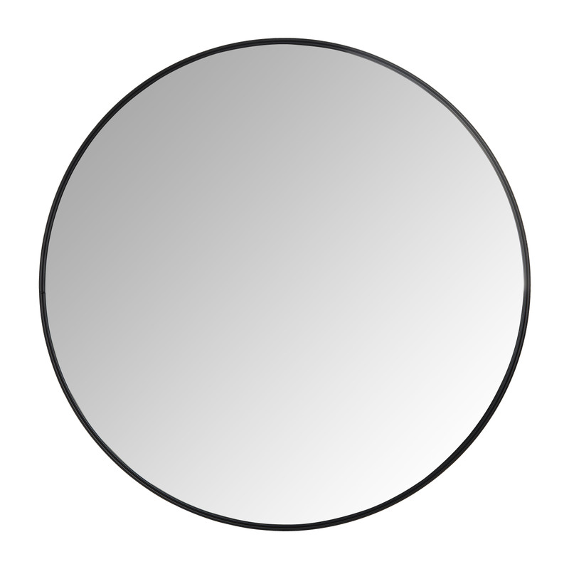 Populair Spiegel rond met metalen lijst - diameter 80 cm | Xenos SA74