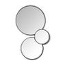 Spiegel rond met metalen lijst - diameter 80 cm