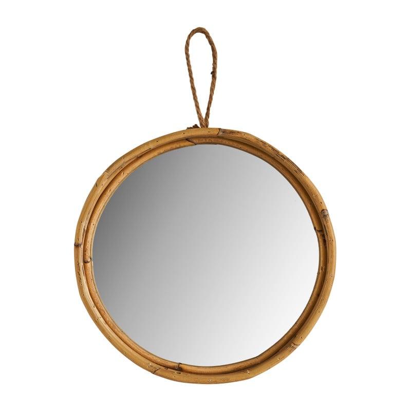Spiegel in rotan frame - ⌀30 cm