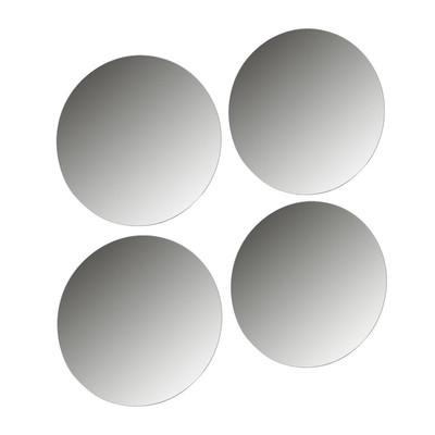 Plakspiegel 30 cm set van 4 for Ronde plakspiegel
