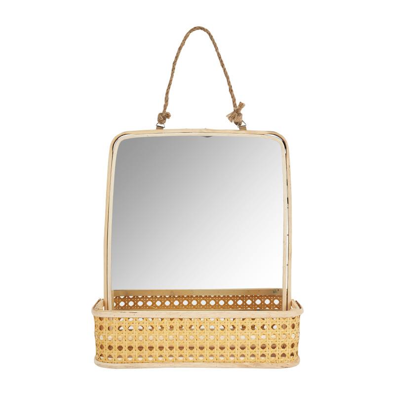 Spiegel met plankje - 26x30x8 cm