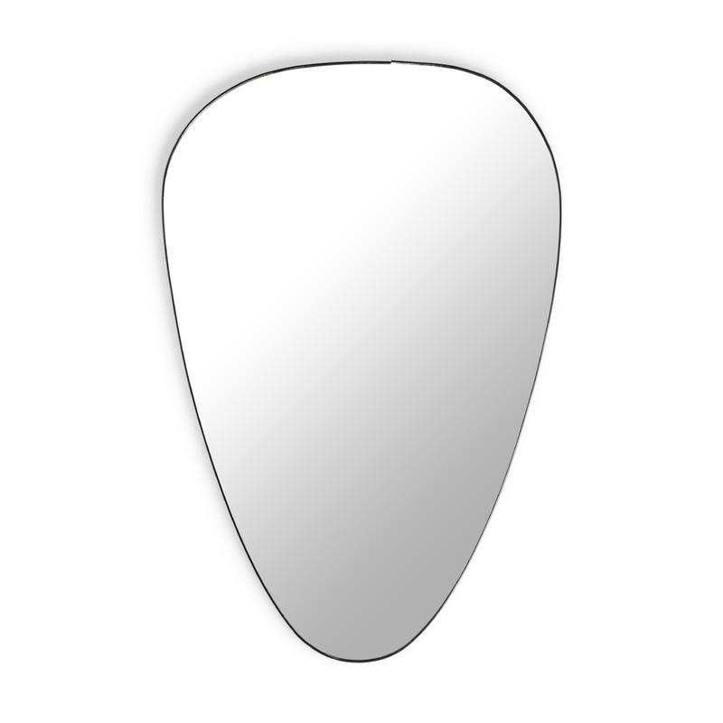 Spiegel ovaal - zwart - ø40x60 cm