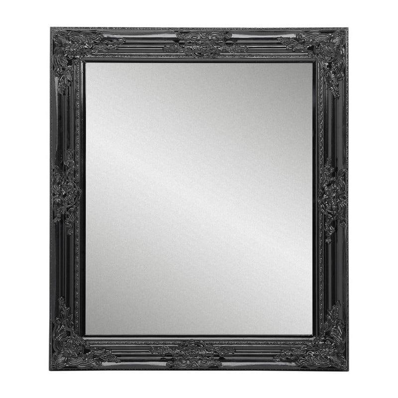 Zwarte Brocante Spiegel.Spiegel Glossy Barok Zwart 64x74 Cm