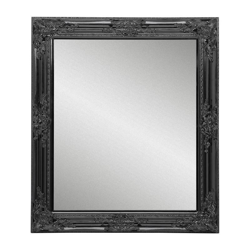 Barok Spiegel Xenos.Spiegel Glossy Barok Zwart 64x74 Cm