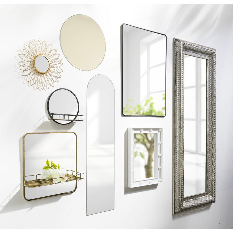 Spiegel met plankje - goud - 40x10x43 cm