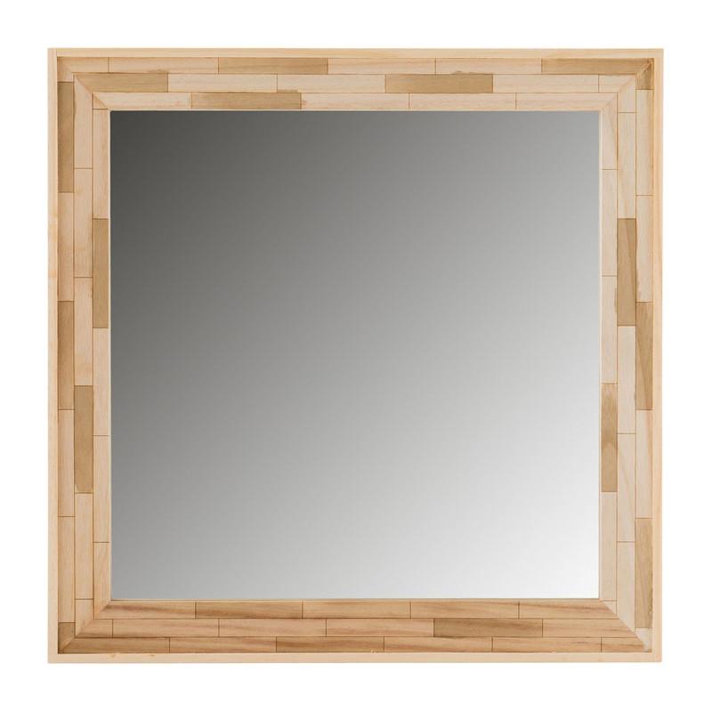Spiegel houtblokjes 48x48 cm xenos for Xenos spiegel