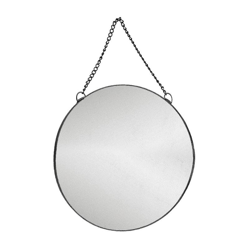 Ronde Spiegel Xenos.Spiegel Rond Met Ketting Zwart 40 Cm