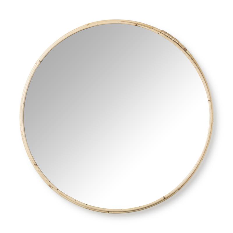 Ronde Spiegel Xenos.Spiegel Rond Met Rotan Rand O40 Cm