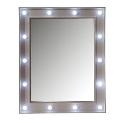 Spiegel met led lichtjes 39x49 cm for Xenos spiegel