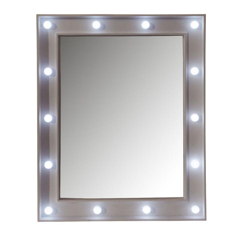 Spiegel Met Lampen.Spiegel Met Led Lichtjes 39x49 Cm