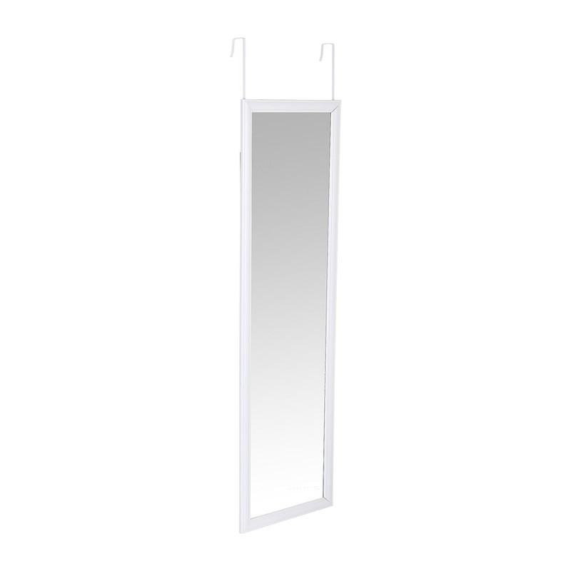 Spiegel deurhanger - wit - 30x120 cm