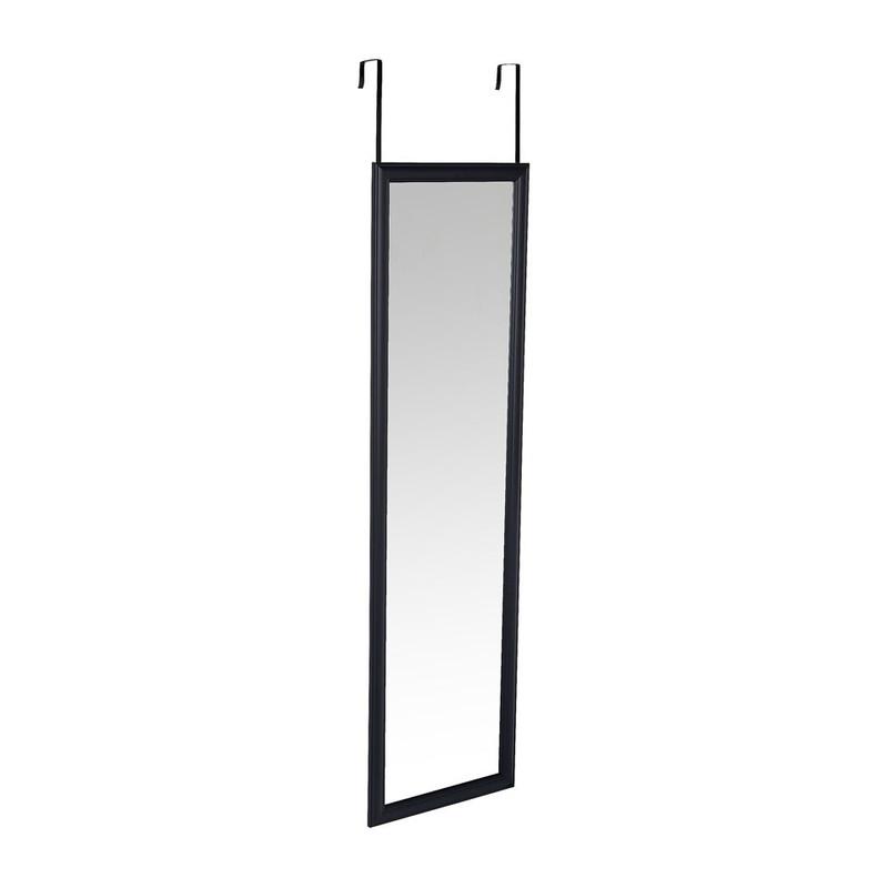 Spiegel deurhanger - zwart - 30x120 cm