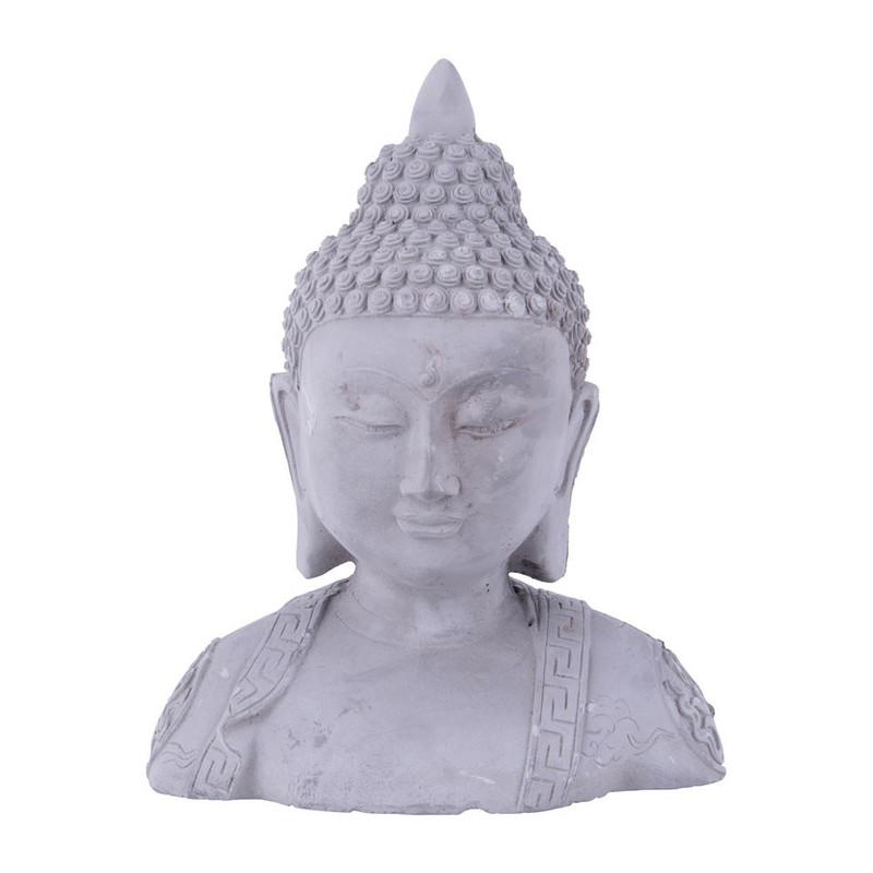 Boeddha hoofd grijs 115x21x26 cm
