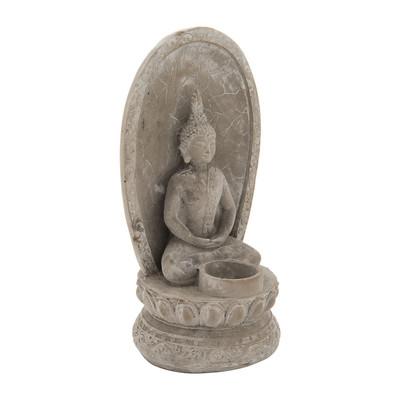 Boeddha theelichthouder - cement