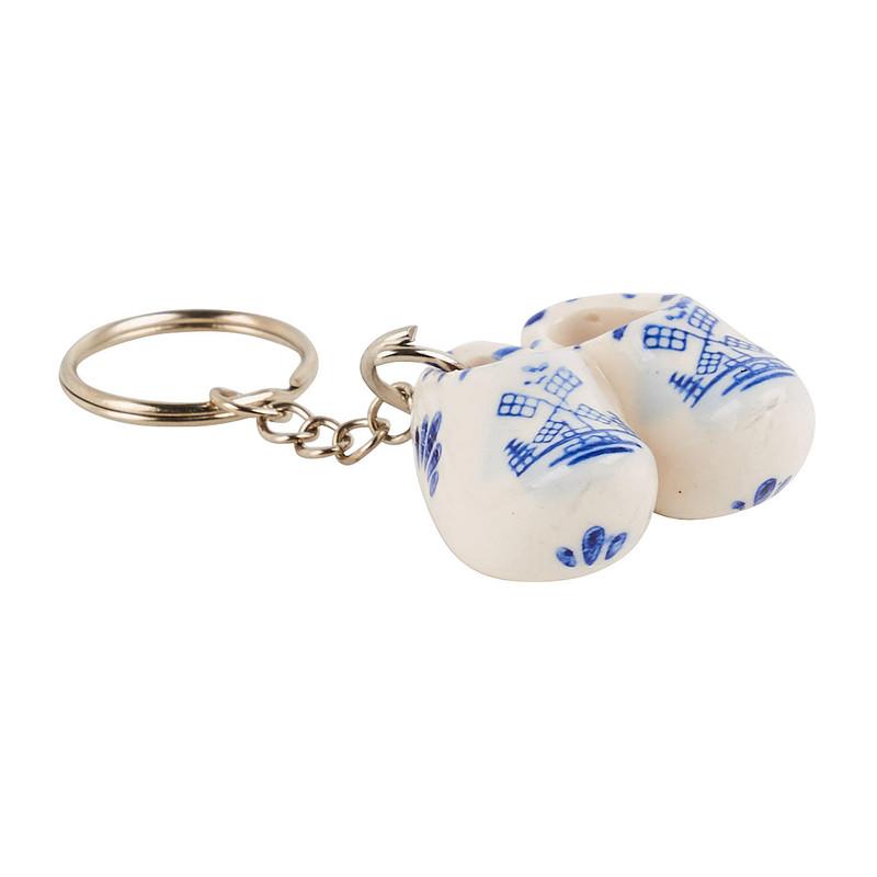 Delftsblau sleutelhanger klompenpaar 6st