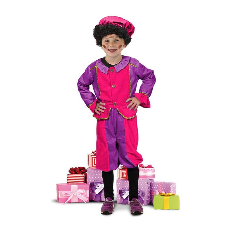 Pietenpak paars/roze 7-9 jaar