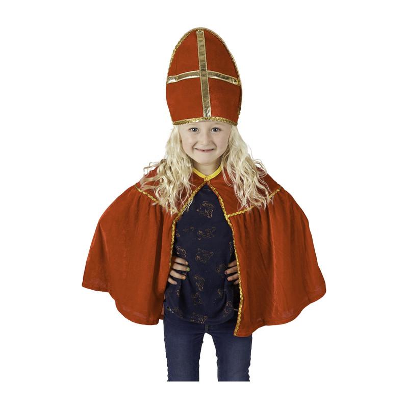 Sint cape en mijter - 3-9 jaar