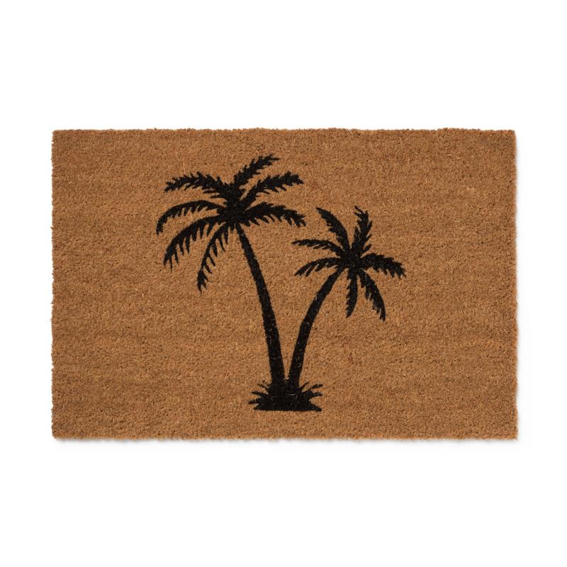 Deurmat palmbomen - zwart - 60x40 cm