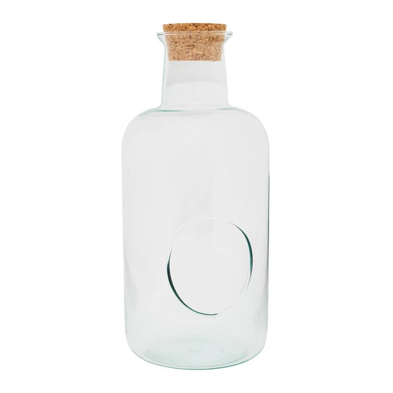 Terrarium fles - glas/kruk - ø15x33 cm