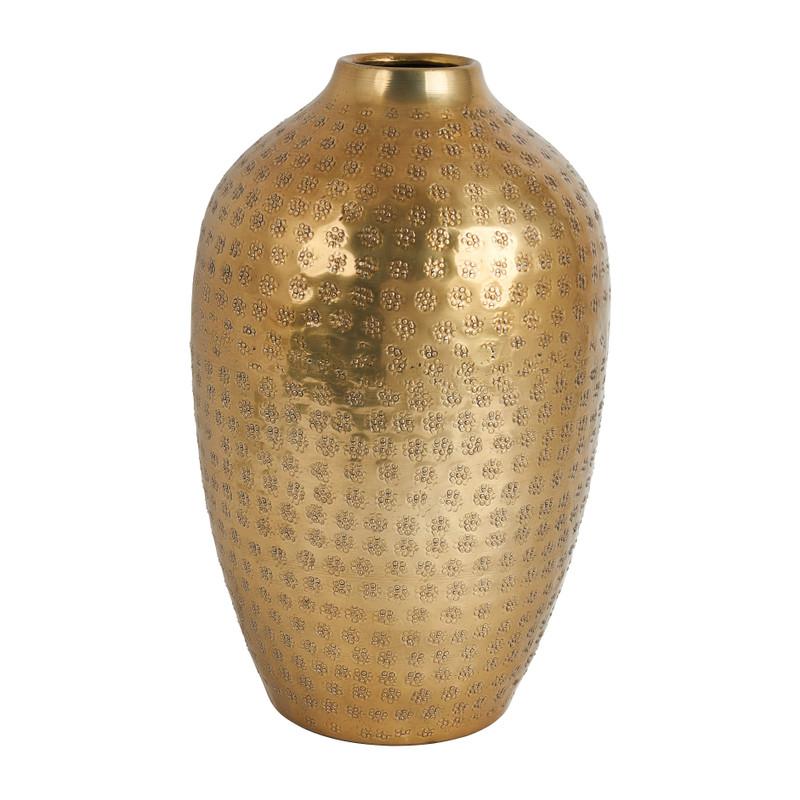 Vaas fles bol - goud - Ø20x32 cm