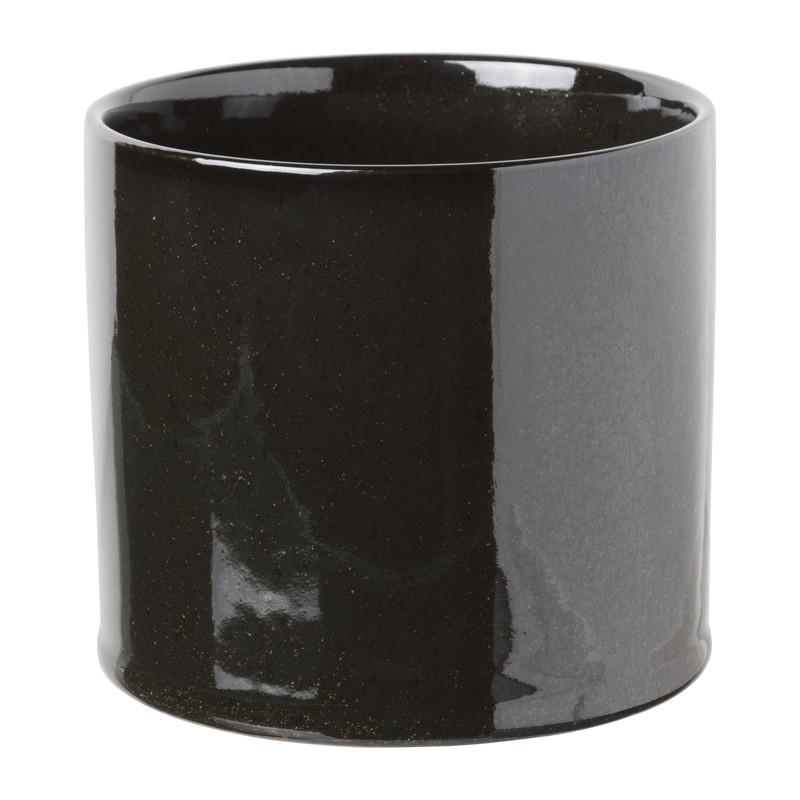 Plantenpot - zwart - 13.7x12.5 cm