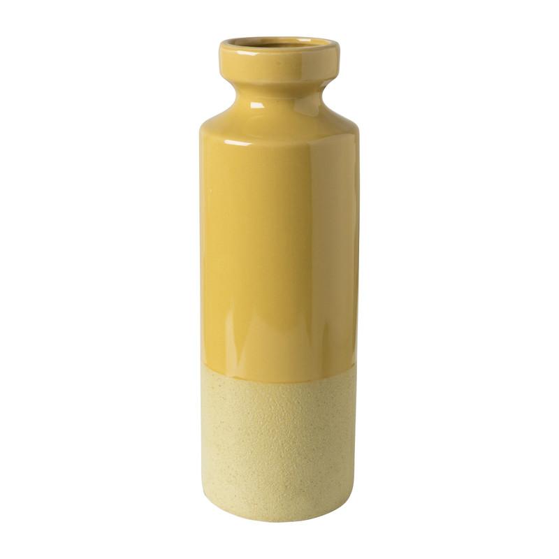 Vaas keramiek - geel - ⌀10.5x31.5 cm