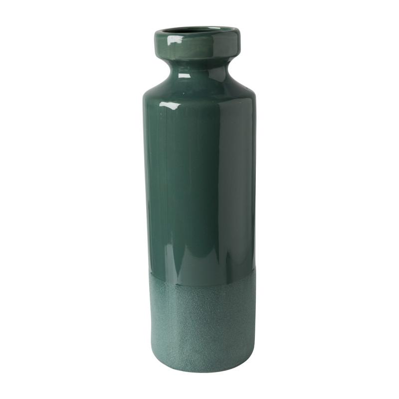 Vaas keramiek - groen - ⌀13x39 cm