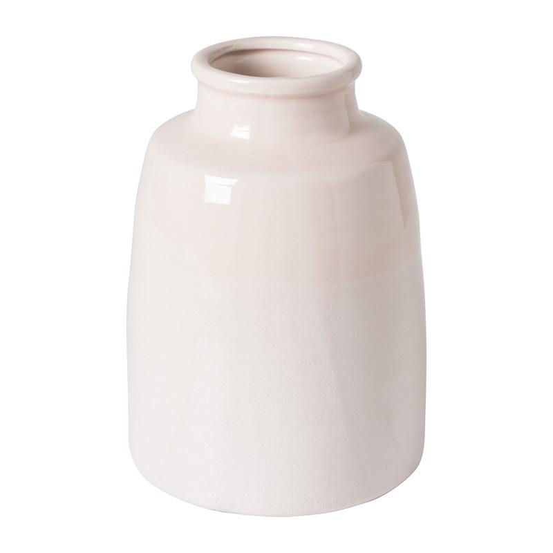 Vaas keramiek middel - roze - ⌀17x23,5 cm