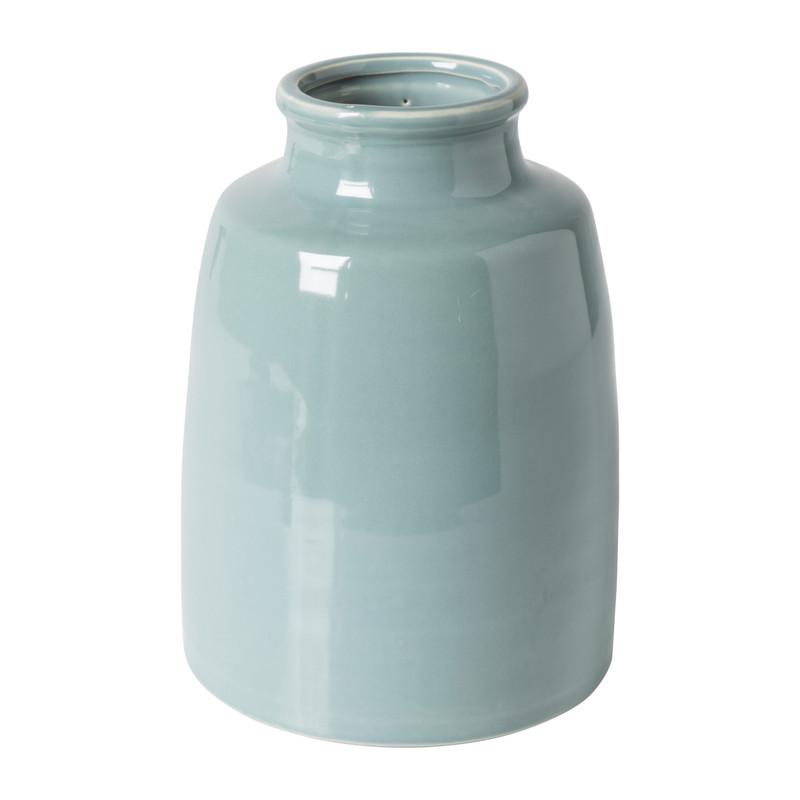 Vaas keramiek middel - blauw - ⌀17x23,5 cm