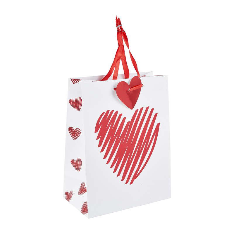 Cadeautasje valentijn 23x17 cm