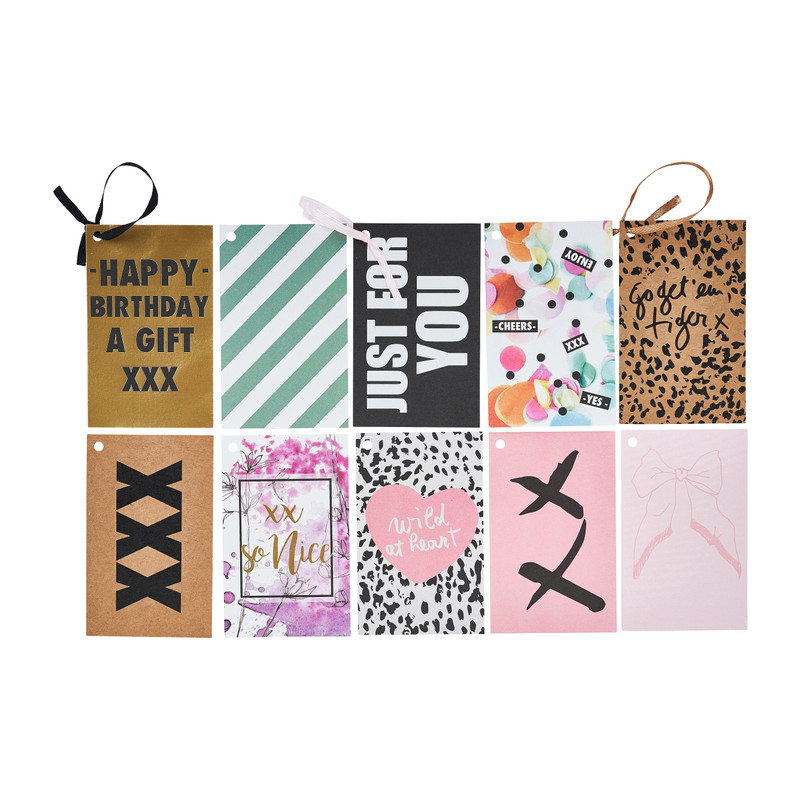 Cadeaukaartjes - diverse prints- set van 10