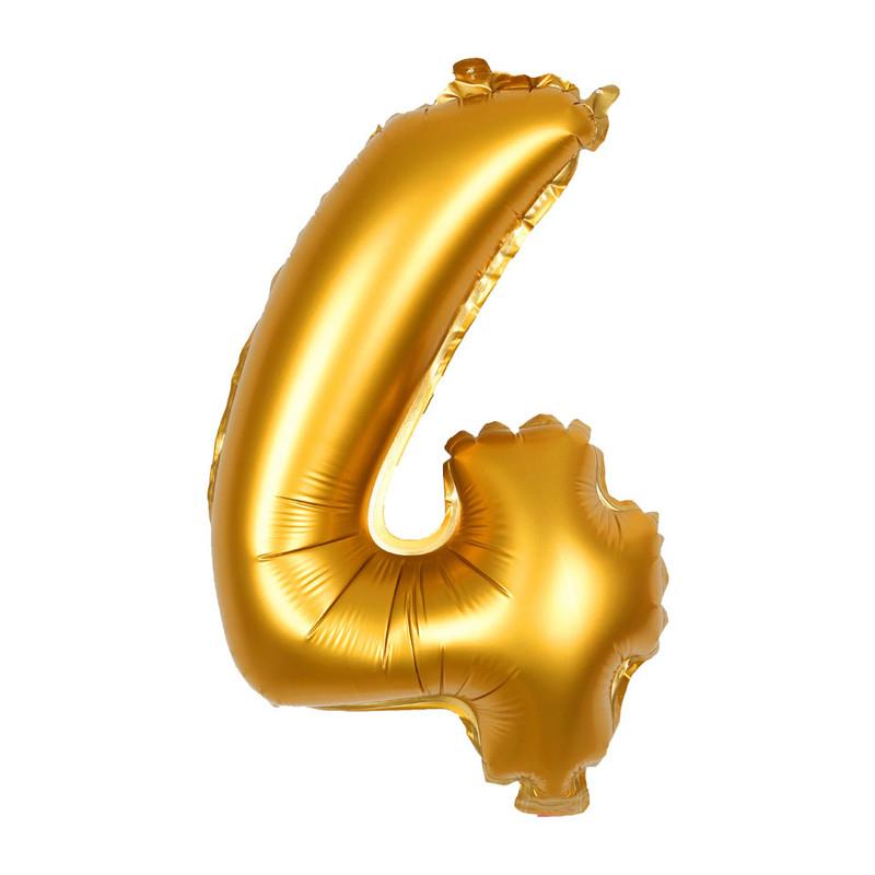 Folie ballon XL cijfer 4 60 cm