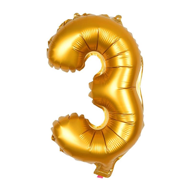 Folie ballon - cijfer 3