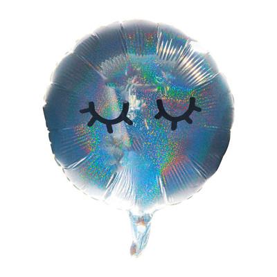 Folie ballon wink - zilver - 35 cm