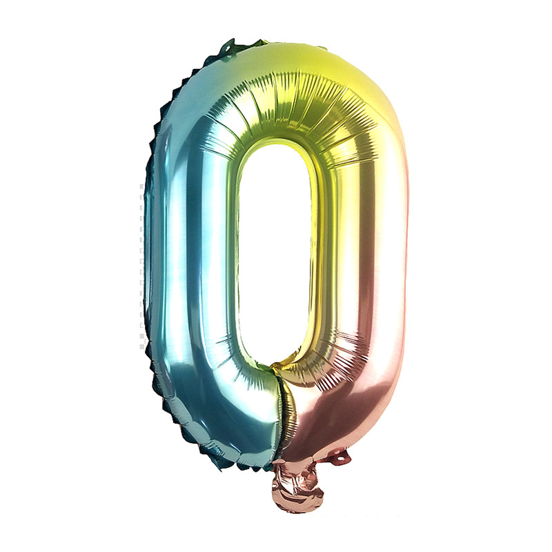 Folie ballon O regenboog metallic 30 cm