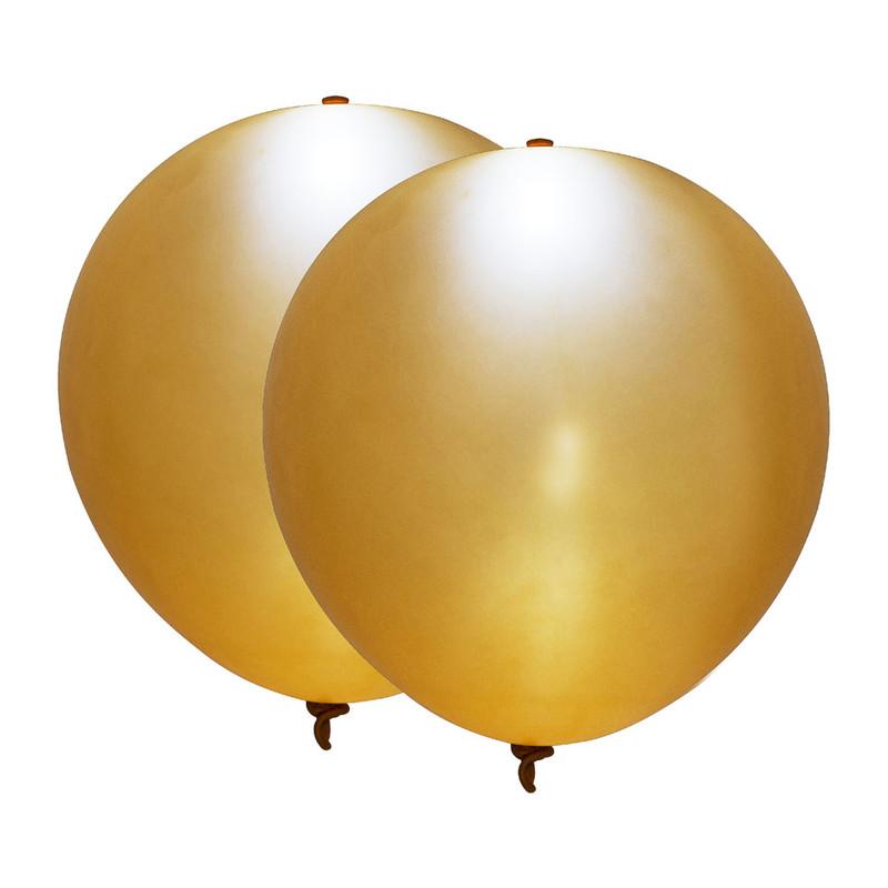 Led ballon - goud - set van 2