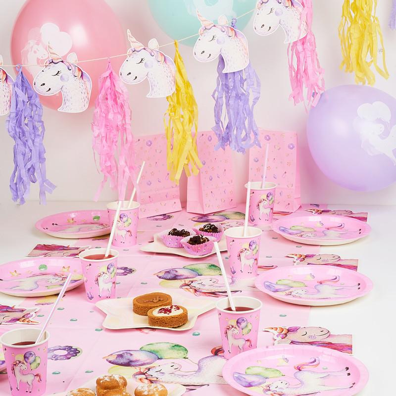 Bordjes unicorn - set van 8