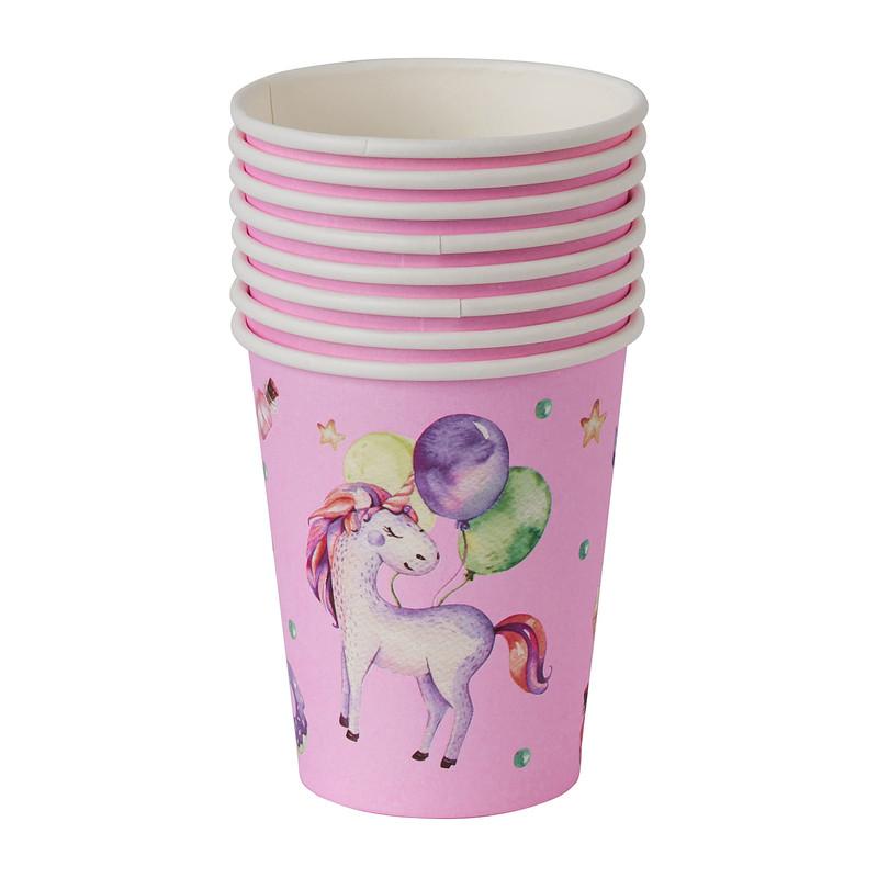 Bekers unicorn - set van 8