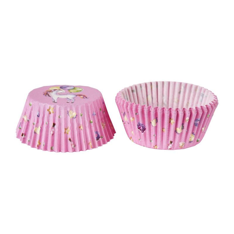 Cupcake vormpjes - unicorn - set van 25