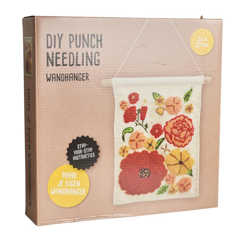 DIY set punch needling wandhanger - 21x27 cm