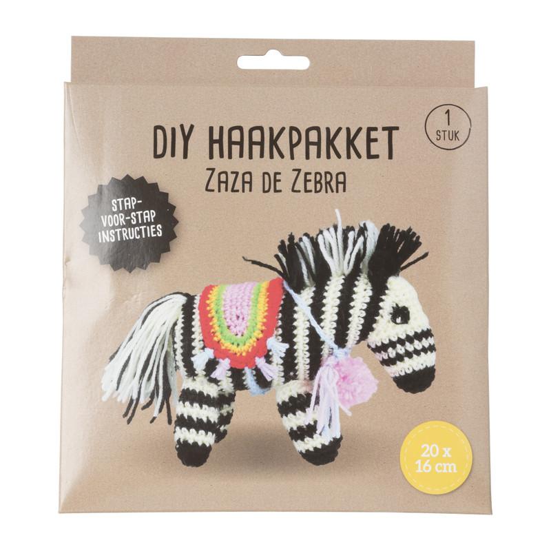 DIY haakpakket zebra - 20x16 cm
