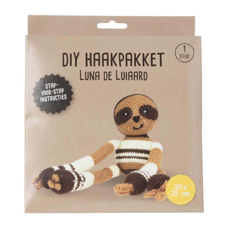 DIY haakpakket - luiaard - 20x25 cm
