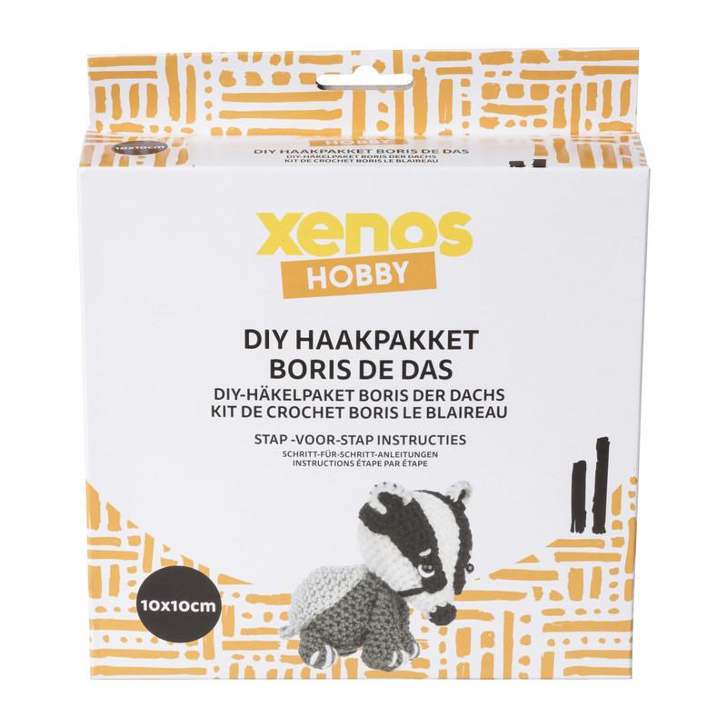 DIY haakpakket - Boris de das - 10x10 cm
