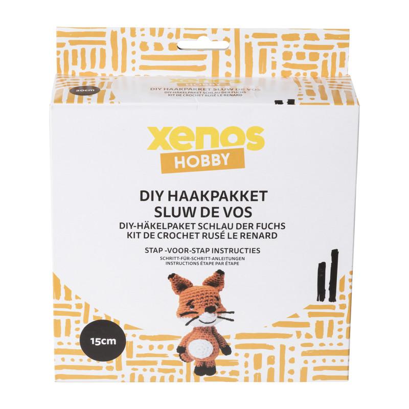 DIY haakpakket - Sluw de vos - 15 cm