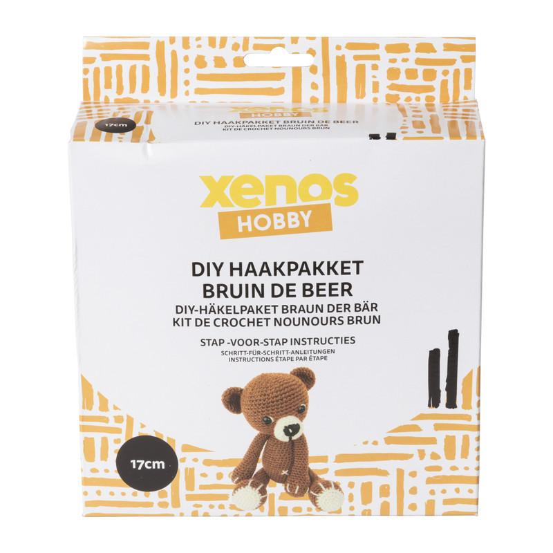 DIY haakpakket - Bruin de beer - 17 cm